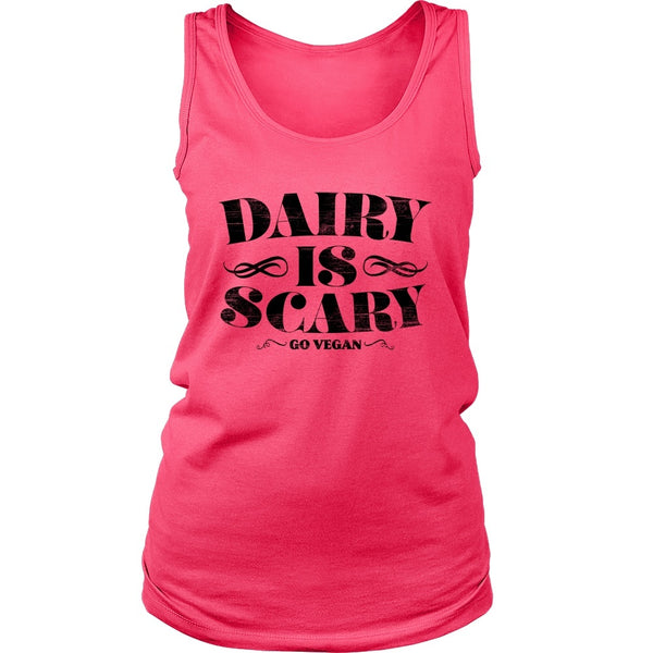 T-shirt - Dairy Is Scary - Tank (Black Print)