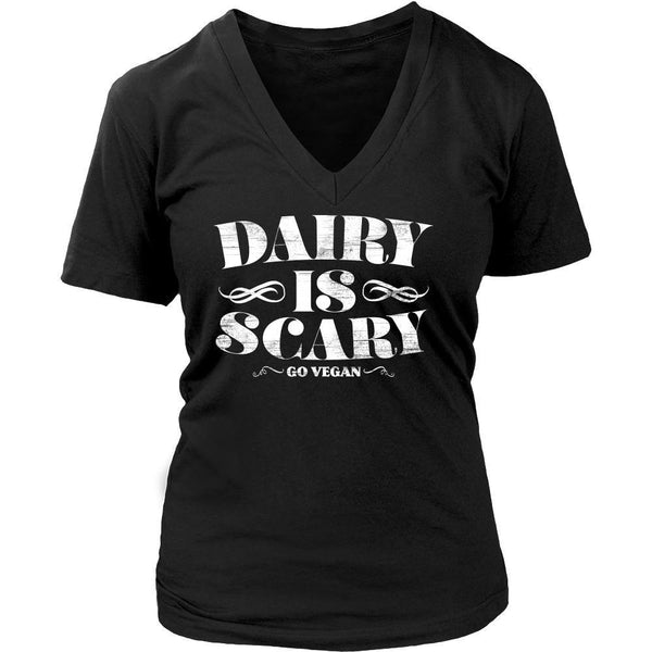 T-shirt - Dairy Is Scary - V-Neck