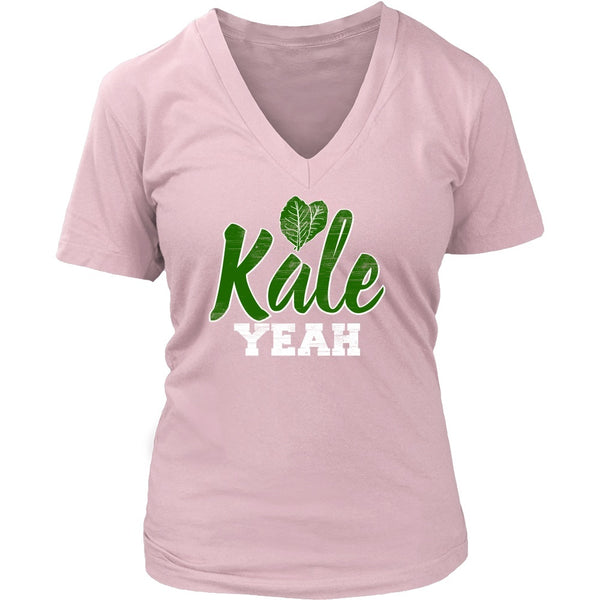 T-shirt - Kale Yeah - V-Neck