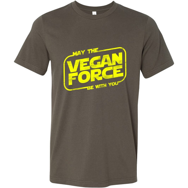 T-shirt - May The Vegan Force Be With You - Mens Shirt