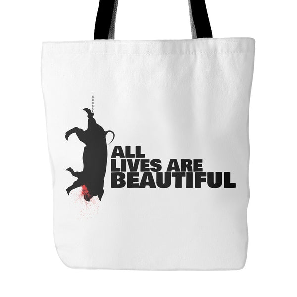 Tote Bags - All Lives Are Beautiful - Tote Bag