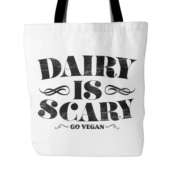 Tote Bags - Dairy Is Scary - Tote Bag