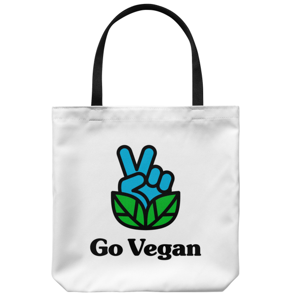 Go Vegan Revolution Logo With Text Tote Bag - Assorted Colors