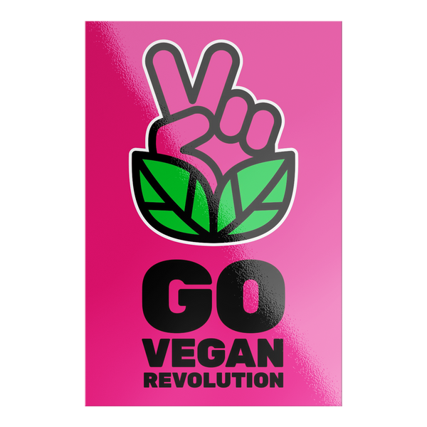 Go Vegan Revolution Magenta Logo Sticker - Go Vegan Revolution