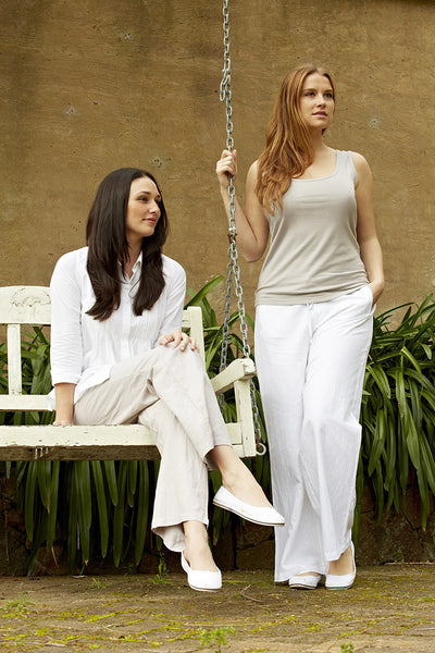 Classic Linen Trousers (White)