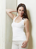 Essential Cotton Stretch Singlet (white)