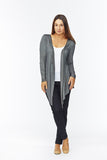 Waterfall Cardigan (Charcoal)