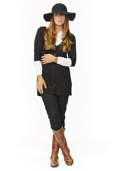 Boyfriend Cardigan (black)