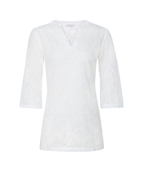 Broderie Anglaise Tunic (white)