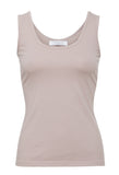 Essential Cotton Stretch Singlet (vintage pink)