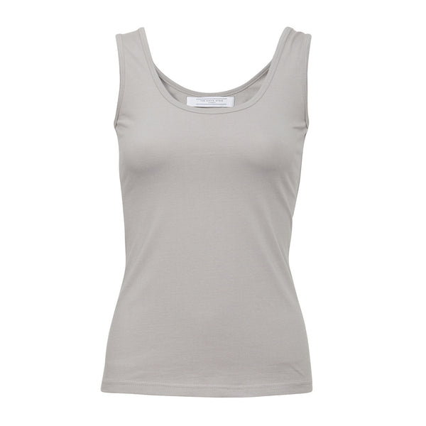Essential Cotton Stretch Singlet (smoke)