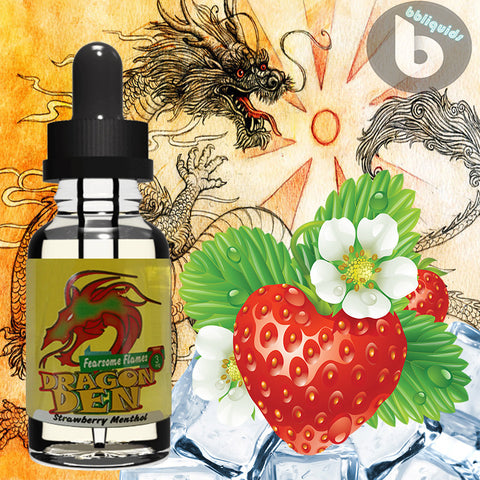 10ml DRAGON DEN - Fearsome Flames - 50VG - 3mg 6mg 11mg
