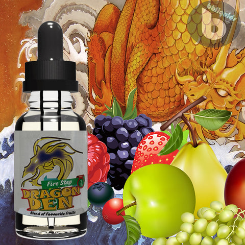 10ml DRAGON DEN - Firestep - 50VG - 3mg 6mg 11mg