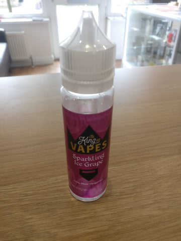 KING OF VAPES SPARKLING ICE GRAPE 50ML 0MG (+10ML NIC SHOT = 3MG)