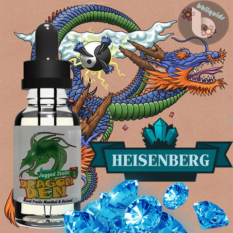 10ml DRAGON DEN - Heisenberg - 50VG - 3mg 6mg 11mg