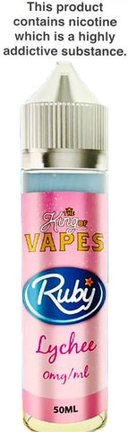 KING OF VAPES RUBY LYCHEE (RUBICON) 50ML 0MG (+10ML NIC SHOT = 3MG)