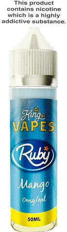 KING OF VAPES RUBY MANGO  (RUBICON) 50ML 0MG (+10ML NIC SHOT = 3MG)