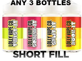 3 X 80ML LOLLY VAPE RANGE