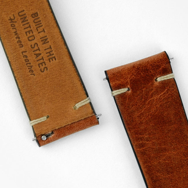 Lined Horween Leather Strap - Tan