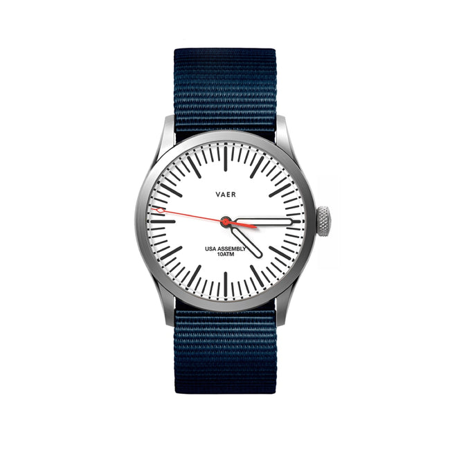 C3 | Classic White USA Quartz 36mm