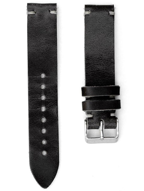 Quick Release Horween Strap - Black Leather