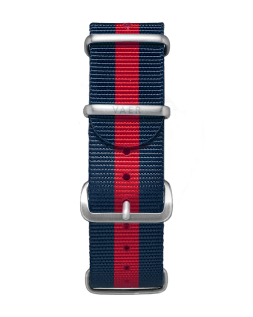 VAER Nylon Strap - Red & Navy