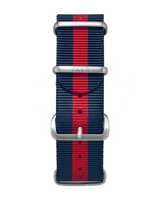 Single Pass Nylon Strap - Red & Navy