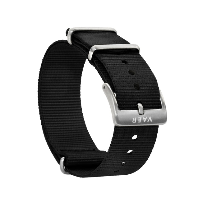 Single Pass Nylon Strap - Black