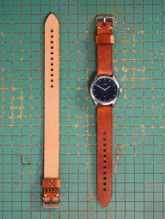 Single Pass Horween Strap - Tan Leather