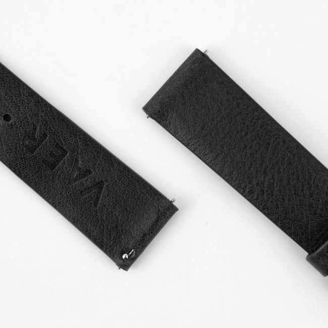 Standard Leather Strap - Black