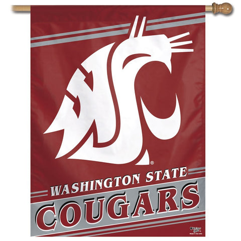 Washington State Cougars Vertical Flag