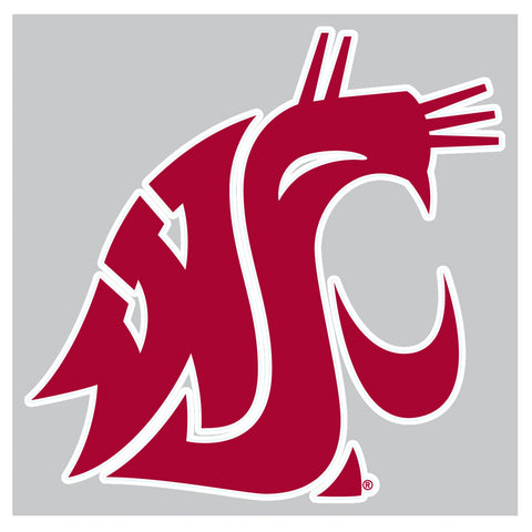 WSU Cougar Logo 8X8 Vinyl Decal