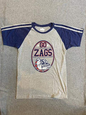 Grey and Navy Youth Gonzaga Tee