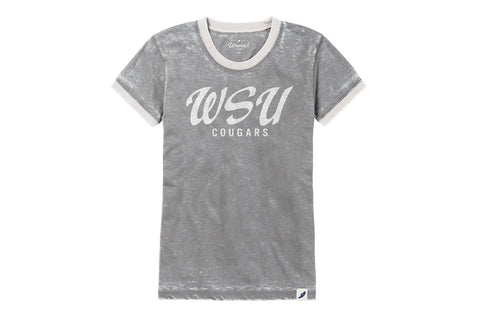 Light Grey/White Vintage Cougars Crew Neck T-Shirt