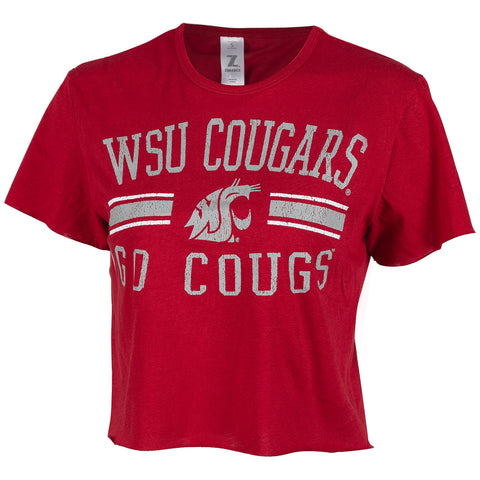 WSU Cropped GO COUGS Tee