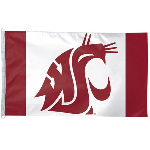 Large Crimson WSU Logo Flag