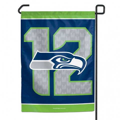 Seattle Seahawks 12 Logo Small Garden Flag