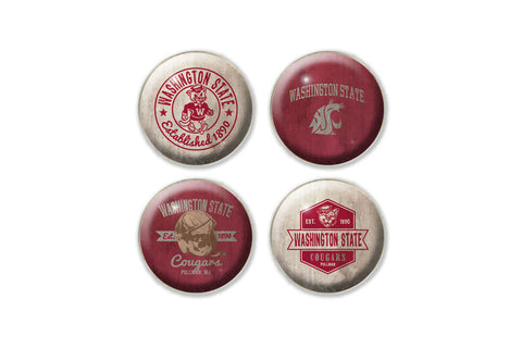 Vintage WSU Magnets - Set of 4