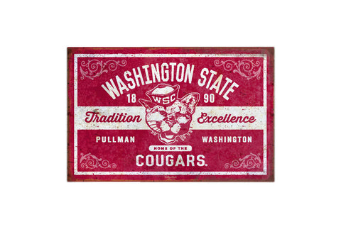 Washington State Vintage Butch Metal Sign