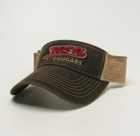 WSU Cougars Faded Brown Visor