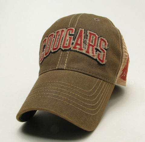 Cougars Faded Brown Trucker Hat