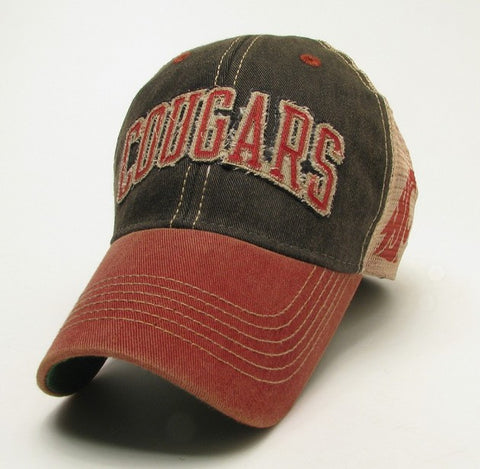 Cougars Faded Crimson Trucker Hat