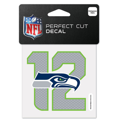 4 X 4 Seattle Seahawks 12 Decal