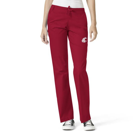 Women's WSU Cougar Crimson Scrub Pants