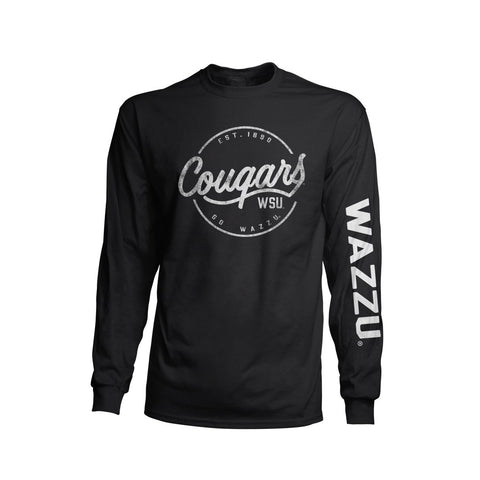 Black and White WAZZU Long Sleeve T-Shirt