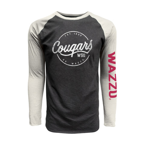 WAZZU Cougars Long Sleeve Baseball T-shirt