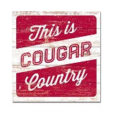 "Washington State 17x17 ""This is Cougar Country"" Wood Sign"