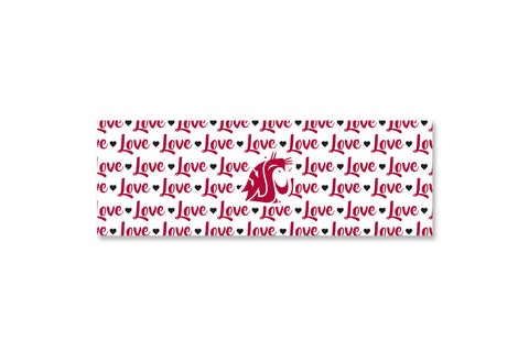 WSU Love Print Wrap Headband
