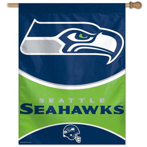 Seattle Seahawks Football Vertical Flag