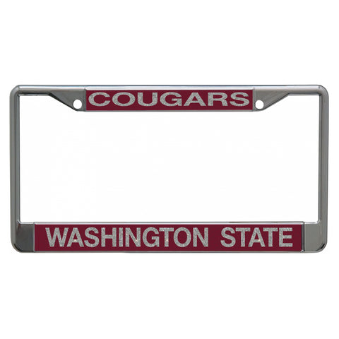 WSU Cougars Bling License Plate Frame
